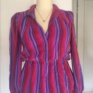 Vintage Silk multi color dress